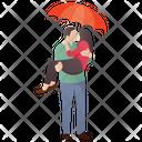 Happy Lovers Honeymoon Caring Partner Icon