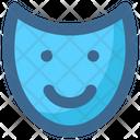 Christmas Mask Happy Icon