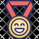 Happy Medal Icon