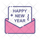 Happy New Year Invitation Letter Party Invitation Icon