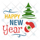Happy New Year New Year Logo New Year Badge Icon