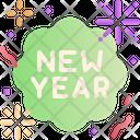 Happy New Year Confetti Popper Icon