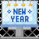 Happy New Year Billboard Icon