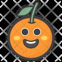 Happy Orange Face Icon