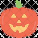 Pumpkin Happy Smile Icon