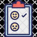 Happy Unhappy Clipboard Icon