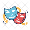 Happy Sad Masks Feeling Happy Icon