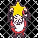Happy Santa Santa Claus Joyful Santa Icon