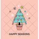 Christmas Tree Greeting Icon