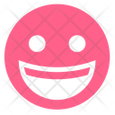 Pink Glyph Happy Icon