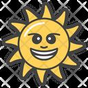 Happy Sun Emoji Emoticon Icon
