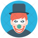 Happy Tramp Happy Clown Circus Joker Icon