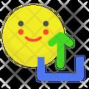 Happy Upload Icon