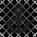 Harbor Port Anchor Icon