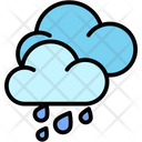 Hard Rain Rain Weather Icon