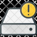 Harddrive Storage Alert Icon