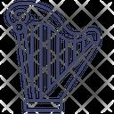 Lyre Music Instrument Icon
