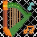 Harp St Patrick Day Music Icon