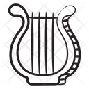 Harp Lyre Musical Instrument Icon