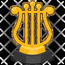Harp Trophy Melody Harp Harp Award Icon