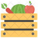 Harvest Fruit Basket Organic Food Vegetable Basket Icon