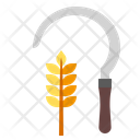 Sickle Harvest Agriculture Icon