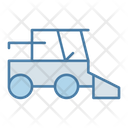 Harvester Cultivation Tractor Icon
