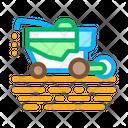 Soy Harvesting Machine Icon