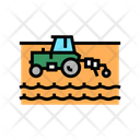 Tractor Working Field Icon