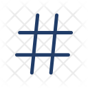 Hashtag Hex Sign Icon