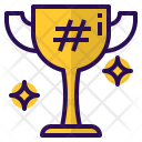 Hashtag Medal Trophy Icon