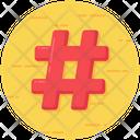 Hashtag Symbol Hash Mark Hash Sign Icon