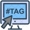 Seo Web Hashtag Icon
