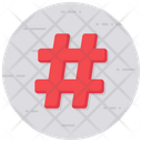 Hashtag Number Sign Typographical Symbol Icon