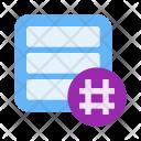 Hashtag Activity Feed Icon