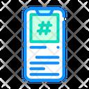 Hashtag Mobile Screen Icon