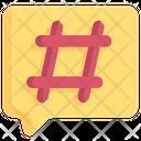 Business Marketing Hashtag Icon