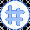 Hashtag Business Marketing Icon