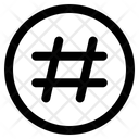 Hashtag Symbol Edit Tool Icon