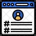 Hashtag Social Network Tags Icon