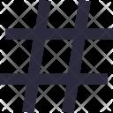 Hashtag Symbol Dial Icon