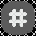 Hashtag Order Function Icon