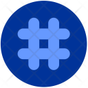 Hashtag Number Element Icon