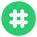 Hashtag Order Number Icon