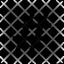 Hashtag Hash Programming Icon