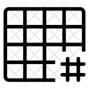 Hashtag grid Icon