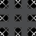 Hashtag Social Symbol Icon