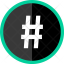 Hastag Twitter Sign Icon