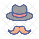 Day Brim Moustache Icon