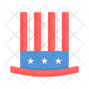 July Fourth Independence Day Icon